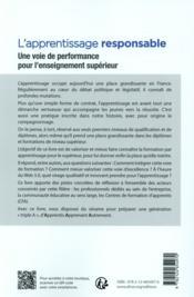 L'apprentissage responsable ; une voie de performance pour l'enseignement supérieur - 4ème de couverture - Format classique