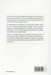 Psychiatrie pour l'etudiant - 4ème de couverture - Format classique