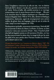 Gertrude Bell ; archéologue, aventurière, agent secret - 4ème de couverture - Format classique