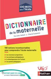 Dictionnaire thématique ; les mots de la maternelle ; C1 - Couverture - Format classique
