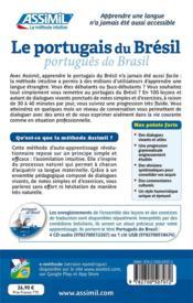 Le portugais du Brésil ; débutants et faux-débutants B2 - 4ème de couverture - Format classique