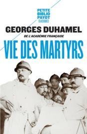 Vie des martyrs - Couverture - Format classique