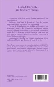 Marcel Dortort, un itinéraire musical ; du minimalisme è la synthèse sonore - 4ème de couverture - Format classique