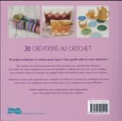 30 créations au crochet - 4ème de couverture - Format classique