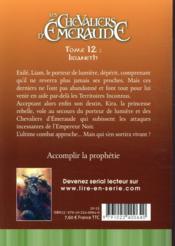 Les chevaliers d'Emeraude T.12 ; Irianeth - 4ème de couverture - Format classique