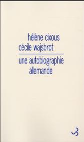 Une autobiographie allemande - Couverture - Format classique