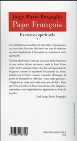 Exercices spirituels - 4ème de couverture - Format classique