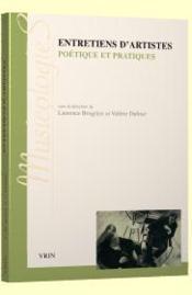 Entretiens d'artistes ; poétique et pratiques - Couverture - Format classique