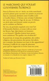 Le marchand qui voulait gouverner Florence et autres histoires du Moyen âge - 4ème de couverture - Format classique