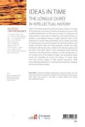 Ideas in time ; the longue durée in intellectual history - 4ème de couverture - Format classique