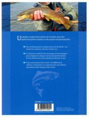 Pêches faciles de la truite - 4ème de couverture - Format classique