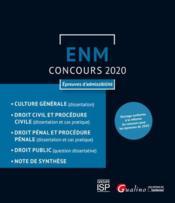 ENM ; concours 2020 ; épreuves d'admissibilité - Couverture - Format classique