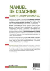 Manuel de coaching cognitif et comportemental (2e édition) - 4ème de couverture - Format classique