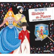 Ma pochette Histoire de France : cartes à colorier et à gratter - Couverture - Format classique