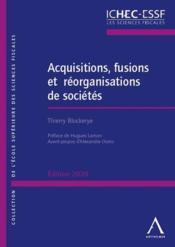 Acquisitions, fusions et réorganisations de sociétés (édition 2020) - Couverture - Format classique