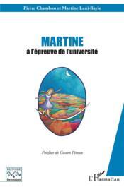 Martine à l'épreuve de l'université - Couverture - Format classique