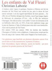 Les enfants de Val fleuri - 4ème de couverture - Format classique