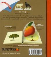Le loup - 4ème de couverture - Format classique