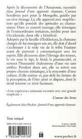 Mon initiation chez les Chamanes ; une parisienne en Mongolie - 4ème de couverture - Format classique