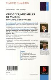 Guide des indicateurs de marché économiques et financiers - 4ème de couverture - Format classique