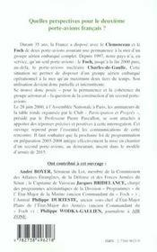 Quelles perspectives pour le deuxième porte-avions français ? - 4ème de couverture - Format classique