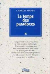 Le Temps Des Paradoxes - Couverture - Format classique