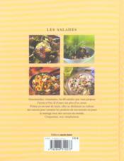 Les salades ; 60 recettes faciles au fil des saisons - 4ème de couverture - Format classique