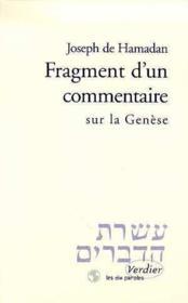 Fragment d'un commentaire sur la genese - Couverture - Format classique