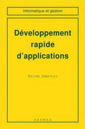 Developpement rapide d'applications coll informatique et gestion - Couverture - Format classique
