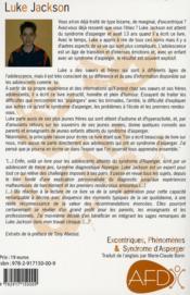Excentriques, phénomènes & syndrome d'Asperger ; un guide pour adolescent - 4ème de couverture - Format classique