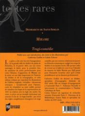 Mirame - 4ème de couverture - Format classique