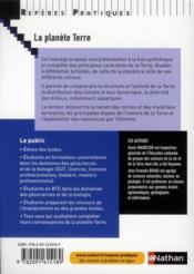 La planète Terre (édition 2010) - 4ème de couverture - Format classique