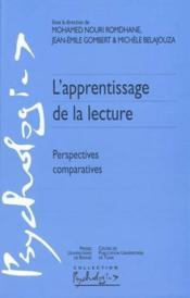 Apprentissage de la lecture ; perspectives comparatives - Couverture - Format classique
