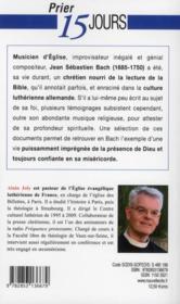Prier 15 jours avec... ; Jean-Sébastien Bach - 4ème de couverture - Format classique
