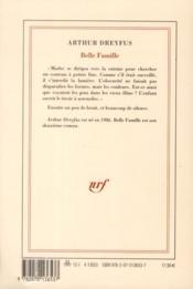 Belle famille - 4ème de couverture - Format classique