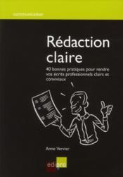 Rédaction claire - Couverture - Format classique