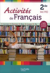 Activites De Francais 2nde Bac Pro Livre De L Eleve Edition 2012 Valentin Bourdelle Garcio