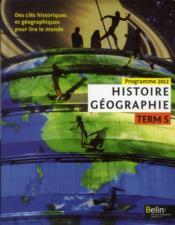 Histoire géographie ; terminale S option ; manuel de l'élève - Couverture - Format classique