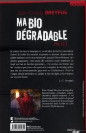 Ma bio dégradable - 4ème de couverture - Format classique