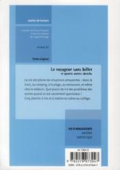 Le voyageur sans billet ; niveau A1 - 4ème de couverture - Format classique