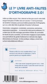 Orthotweet : 140 signes pour ne plus faire de fautes d'orthographe - 4ème de couverture - Format classique