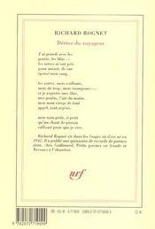 Derive Du Voyageur - 4ème de couverture - Format classique