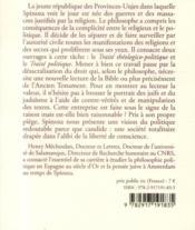 Le droit et le sacré chez Spinoza - 4ème de couverture - Format classique