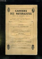 Cahiers Des Naturalistes Fasc N° 2 1965. Sommaire: Comptes Rendus Des Principales Excursions Des Naturalistes Parisiens En 1958 Et 1959... - Couverture - Format classique