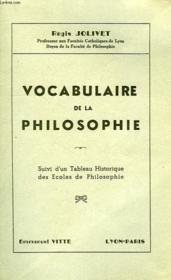 Vocabulaire De La Philosophie - Couverture - Format classique