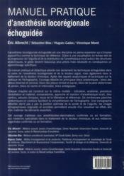 Manuel pratique d'anesthésie locorégionale échoguidée - 4ème de couverture - Format classique