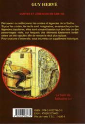 Contes et légendes en Sarthe - 4ème de couverture - Format classique