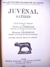 Satires. Texte établi et traduit par Pierre de LABRIOLLE et François VILLENEUVE. 7e édition revue et corrigée. - Couverture - Format classique