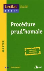 Procédure prud homale - Couverture - Format classique