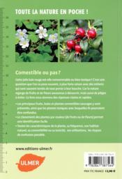 Plantes sauvages, comestibles et toxiques - 4ème de couverture - Format classique